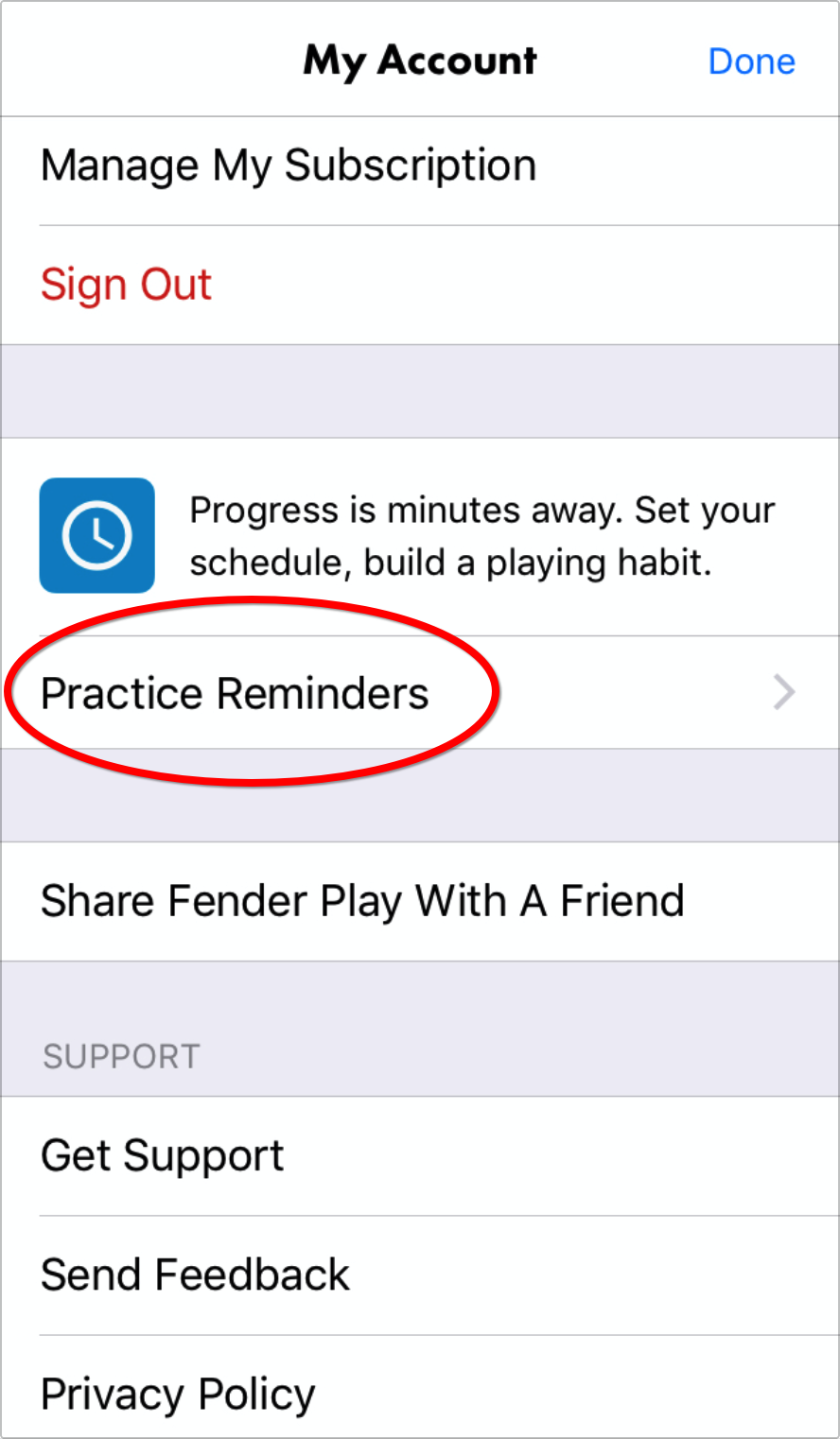 How Do I Set Practice Reminders Fender Play